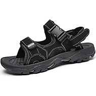 Men's Shoes Synthetic Outdoor / Casual Sandals Outdoor / Casual Sports Sandals Flat Heel Hollow-out Black / Taupe