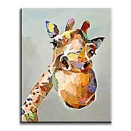 מצויר ביד בעלי חיים ים- תיכוני / פסטורלי / סגנון ארופאי / מודרני / קלאסי / מסורתי / ריאליסטי,פנל אחד בד ציור שמן צבוע-Hang