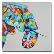 Ręcznie malowane Zwierzę Nowoczesny / Klasyczny / Tradycyjne / Realistyczne / Śródziemnomorskie / Pasterski / Fason europejski,Jeden panel