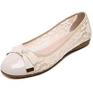 Women's Flats Summer Comfort / Closed Toe PU Casual Flat Heel Others Black / Almond