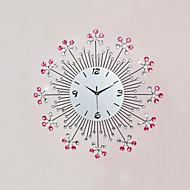 Moderne/Contemporain Fleurs / Botaniques / Inspiré / Dessin animé Horloge murale,Rond / Nouveauté Verre / Métal / Pierre57cm x 57cm(22in