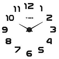 מודרני / עכשווי / אגבי משפחה שעון קיר,עגול / מצחיק אקרילי / מתכת / פלדת אלחלד 50 בבית/ בטבע / בבית / טבע שָׁעוֹן