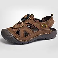 Sandaalit-Miesten kengät-Nahka-Ruskea / Khaki-Rento