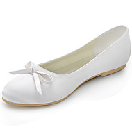 Women's Shoes Silk Flat Heel Round Toe Heels Wedding / Party & Evening / DressBlack / Blue / Yellow / Pink