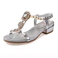Women's Shoes Heel Peep Toe Sandals Outdoor / Party & Evening / Dress Silver / Gold