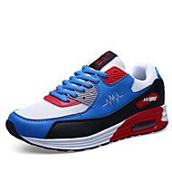 Muškarci Sneakers Klompe i natikače Proljeće Til Ležeran Atletika Ravna potpetica Vezanje Drugo Kombinacija materijalaCrna Plava Crvena