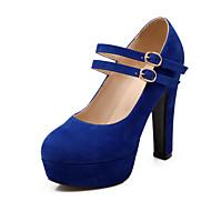 נשים-מגפיים-פליז-פלטפורמה רצועת קרסול-שחור כחול אדום בז'-חתונה שמלה מסיבה וערב-עקב עבה פלטפורמה