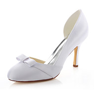 Dámské-Svatební obuv-Podpatky / Kulatá špička-Podpatky-Svatba / Šaty / Party-Bílá