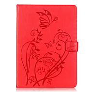 Corpo Completo carteira / Entrada de Cartão / Other Flor Couro Ecológico Macio Embossed leather Case Capa Para Apple iPad Air 2
