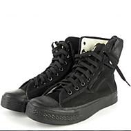 Men's Boots Spring / Summer / Fall Flats Canvas Outdoor Flat Heel Zipper Black Hiking