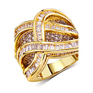 Ring Round Fashion Wedding / Party / Daily / Casual / N/A Jewelry Cubic Zirconia / Copper / Platinum Plated / Gold Plated Women Band Rings