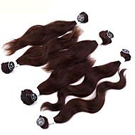 Tissages de cheveux humains Cheveux Péruviens Ondulation naturelle 12 mois tissages de cheveux