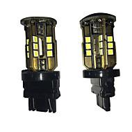 2 pcs cauda lâmpada de golfe especial do carro levou luz de nevoeiro 3157 24w 5050 24 LED SMD bakc carro freio lâmpada do carro lâmpada