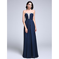 TS Couture Prom Formal Evening Dress - Sparkle & Shine Sheath / Column Sweetheart Floor-length Chiffon with Beading Ruching