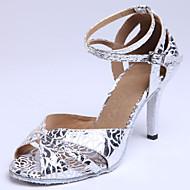 Sapatos de Dança (Prateado) - Mulheres - Customizáveis - Latim/Sapatos Padrão