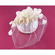 Women's Lace / Pearl / Net Headpiece-Wedding Birdcage Veils 1 Piece