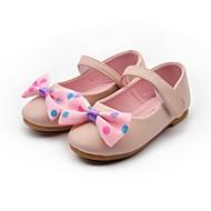 Obuv dívčí-Šaty / Běžné-Pohodlné-Umělá kůže-Plochá podrážka-Růžová / Bílá