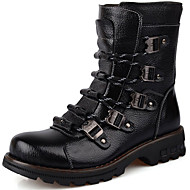 Men's Shoes Synthetic Outdoor / Casual Boots Outdoor / Casual Snow Boots Chunky Heel Lace-up Black