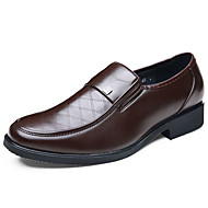 Men's Flats Spring Fall Comfort Leather Office & Career Casual Flat Heel Others Black Brown Walking