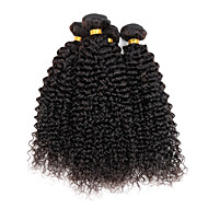 טווה שיער אדם שיער הודי Kinky Curly 4 חלקים שוזרת שיער