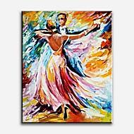 Ručně malované Lidé Moderní / Klasický / Tradiční / Realismus / Středomoří / Pastýřský / evropský styl,Jeden panel PlátnoHang-malované