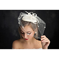 Women's Lace / Flax / Net Headpiece-Special Occasion Fascinators 1 Piece Clear