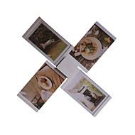 "2016 New Arrival Leggyhorse 5"" x 7"" Flexible Transparent Acrylic Photo Frame Set,White/Black Color, Set of 4 Frames"