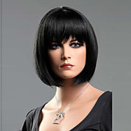 black straight fashion vrouw korte bob pruik