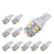 10pcs t10 10smd 3528 branco automóvel carro levou luz lâmpada (DC12V)