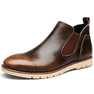 Støvler-Nappa Leather-Cowboystøvler-Herre-Sort Brun Rød-Udendørs Fritid-Tyk hæl