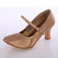 Moguće personalizirati-Ženske-Plesne cipele-Latino-Umjetna koža-Potpetica po mjeri-Crna / Smeđa / Bijela / Srebrna
