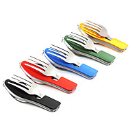 CAMPING FOLDING Dao fork spoon combination tableware outdoor camping multifunctional stainless steel can be split