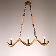40W Chandelier ,  Traditional/Classic / Rustic/Lodge / Vintage / Retro / Country Antique Brass Feature for Candle Style MetalLiving Room