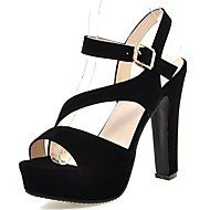 Women's Sandals Spring / Summer / Fall Peep Toe / Party & Evening / Dress / Casual Chunky Heel Buckle / Hollow-out