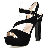 Platform-Vastag Talp-Női cipő-Szandálok-Ruha Alkalmi Party és Estélyi-Bőrutánzat-Fekete Görögdinnye Mandula