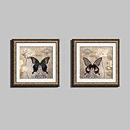 Floral/Botânico / Animal Quadros Emoldurados / Conjunto Emoldurado Wall Art,PVC Dourado Cartolina de Passepartout Incluída com frameWall