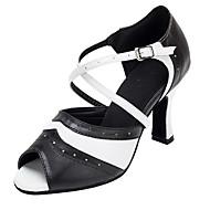 Chaussures de danse(Rouge / Autre) -Personnalisables-Talon Personnalisé-Similicuir-Latine / Chaussures de Swing