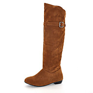 Women's Boots Spring / Fall / Winter Fashion Boots Leatherette Outdoor / Casual Chunky Heel BuckleBlack / Brown