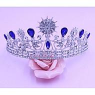 Femme Alliage Casque-Mariage Tiare 1 Pièce Bleu Poire 48cm