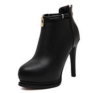 נעלי נשים-נעליים ללא שרוכים-דמוי עור-עקבים / חדשני / גלדיאטור / בלרינה בייסיק / מגפי אופנה-שחור-חתונה / שמלה / מסיבה וערב-עקב סטילטו