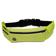 Unissex Bolsas Outono Fibra Sintética Bolsa de Cintura com para Casual Esportes Preto Fúcsia Verde Azul