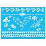 5pcs White Animal Decal Women Henna Butterfly Temporary Waterproof Flower Lace Jewelry Tattoo Sticker