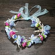 Women's Fabric Headpiece-Wedding / Special Occasion / Casual Headbands 1 Piece Purple / Blue / Pink Flower 50CM