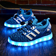 LED Light Up Shoes, Boy's Sneakers Spring Summer Fall Winter Comfort Fabric Athletic Flat Heel Black Green Royal Blue