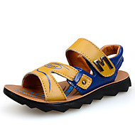 Boys' Shoes Casual Leatherette Sandals Summer Sandals Magic Tape Blue / Yellow
