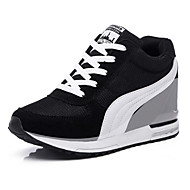 Women's Sneakers Spring / Fall Comfort Tulle Athletic / Casual Wedge Heel Split Joint /Black / Blue / Red Sneaker