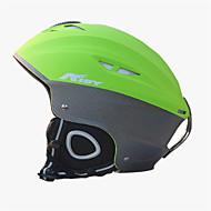 Unisexo Capacete L: 58-61CM Esportes Ultra Leve (UL) Fixado 14 CE EN 1077 Esportes de Neve / Esqui Verde PC / EPS