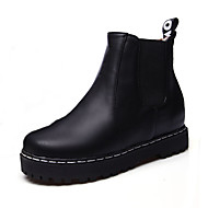 Women's Shoes Boots Spring/Fall/Winter Platform/Bootie/Creepers/Round Toe Office Career/Casual Platform Gore Black