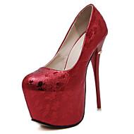 נעלי נשים-נעליים ללא שרוכים-דמוי עור-עקבים / נעלים עם פתח קדמי / פלטפורמה / חדשני / גלדיאטור / בלרינה בייסיק / מגפי אופנה-שחור / ורוד /