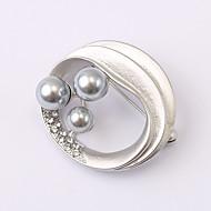 European and American fashion zircon Pearl Brooch Series 022